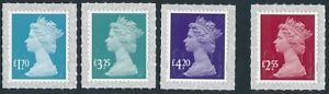 """2021 """"M21L"""" - TARIFF INCREASE Machin Stamp Set x4 - on SBP2i from Counter Sheets"""