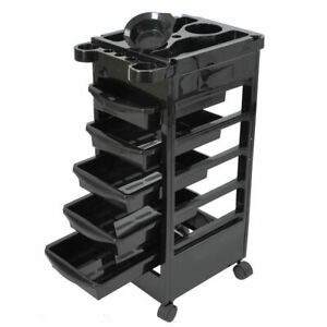"Styling Station Trolley Equipment Rolling Storage Tray Cart32"" Beauty Salon Spa"