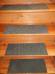 "13 STEP Indoor  Stair Treads Staircase 8"" x 24"" Rug Carpet."