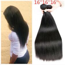 Natural color Straight human hair bundles 3PCS Peruvian virgin hair Extensions