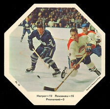 1967-68 York Octagons Hockey Card #33 Pronovost v Harper/Rousseau EXNM Canadiens