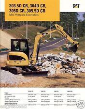 Equipment Brochure - Caterpillar - 303.5D CR et al - Mini Excavators (E1749)