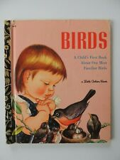 BIRDS Australian Little Golden Book #415 Eloise Wilkin & Jane Watson Black Spine