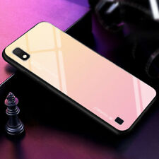 For Samsung Galaxy A70 A50 A30 A10 A20 A5 A6 Gradient Case Tempered Glass Cover