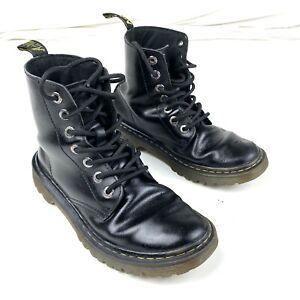 Doc Dr Martens Luana Airwair Black Combat Boots Size L 7 EUR 38 Patent Leather