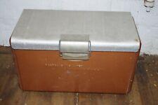 Mid-Century Rare Copper Art Deco Cooler Chest by Poloron Picnic Vintage Box