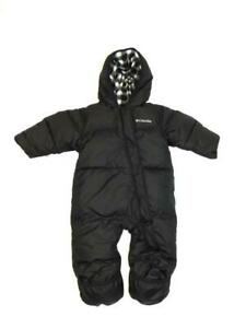 Columbia 6-12 Months Black Baby Snuggly Bunny Bunting Down Insulated Snow Suit