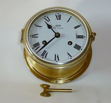 Schatz Royal Mariner Brass Ships Bell Clock Germany Nautical+Clock Key
