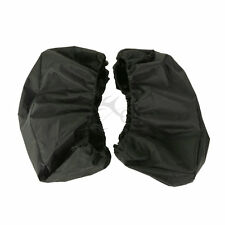 Pairs Black Waterproof Lid Covers Audio Speaker Lid For Harley Touring Saddlebag