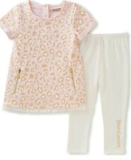 NEW JUICY COUTURE BABY GIRL PINK LEOPARD TUNIC & SIGNATURE LEGGING SET SZ 18M