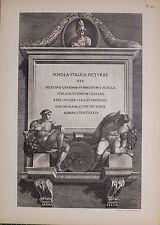 Antiguo Piranesi de impresión de 100 años de edad de vistas de Roma títulos and Etc