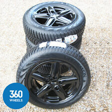 "GENUINE MINI COUNTRYMAN PACEMAN 16"" BLACK ALLOY WHEELS NEW WINTER TYRES"