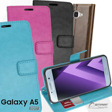 Wallet Flip Card Slot Stand Case Cover For Samsung Galaxy A5 2017