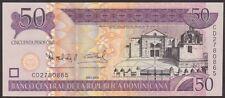 DOMINICAN  REPUBLIC  50 PESOS 2008  Prefix CU -  P 176b  Uncirculated Banknotes