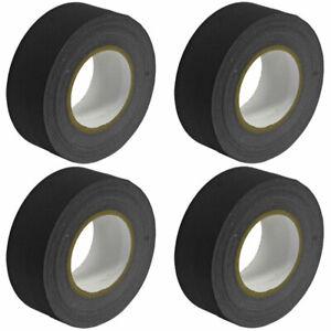 "Seismic Audio 4 Pkof Gaffer's Tape-Black 2"" Roll 60 Yards per Roll Gaffers Tape"