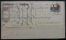Henry Enrique Meiggs mentioned on NY check 1871; railroad Andes New York magnate