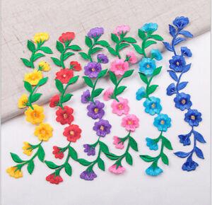 Large flower patches applique patch motif iron/ sew on trim #10 6 colours