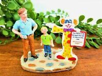 Lemax Tall Enough Carnival Circus Fair Village Figurine #82501 Rare Clown Sign