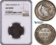 AE944, Canada, Victoria, 1 Cent 1892, London, NGC AU58BN