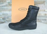 Tod ´S Tods Size 41,5 7,5 Ankle Boots Boots Lace up Black New