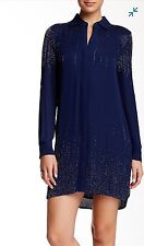 NWT $698 Diane Von Furstenberg Prita Embroidery Silk Dress Size 4