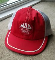 Mac Quality Tools red trucker mesh hat snapback adjustable Swingster cap