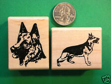 Two Rubber Stamps, Dogs, German Shepherds