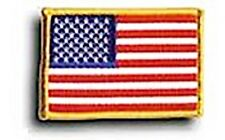 UNITED STATES FLAG EMBROIDERED IRON ON PATCH