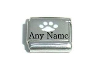 Italian Charms Name CUSTOM MADE PAW PET NAME Cat Dog