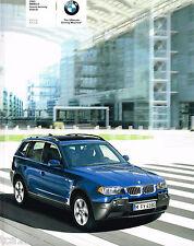 Lrg. 2005 BMW X3 / X-3 Sport Activity SUV Catalog / Brochure; 2.5i,3.0i,2.5,3.0