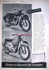 1959 Francis-Barnett Cruiser 80 & Light Cruiser Motor Cycle ADVERT 487h Print Ad