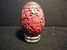 Franklin Mint Treasury of Eggs - CINNABAR - Circa Late 1980's