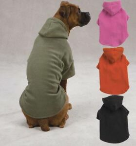 Casual Canine Dog Fleece Hoodie Sweatshirt Coat XXS-XL Pet Hood