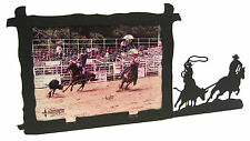 "Team Roping Steer Horse Picture Frame 5""x7"" H"