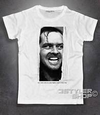 Mens T-shirt Jack Nicholson the shining morning has the gold in Mouth No happinn.