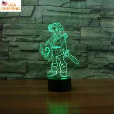 Legend of Zelda link 3D LED Night Light Table Desk Lamp Christmas Gifts 7 Color