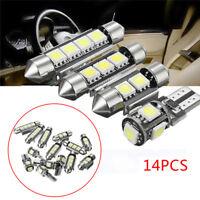14pcs White Interior LED Light Kit For Universal Auto Car License Trunk Lamp Hot
