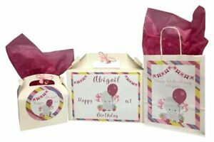 Personalised Girls 1st Birthday Any Age Gift Box Gift Bag Party Bags Present Bag