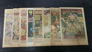 1969 MARVEL DC LOT OF (8) ASSORTED COVERLESS COMICS LOW-GRADE HULK SUPERMAN