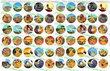 """60 Precut 1"""" The Lion Guard Bottle cap Images Set 1"""