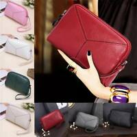 Lady's Leather Clutch Handbag Bag Holder Purse Wallet For Coin Phone Card Women