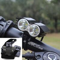 10000LM 2x CREE XM-L U2 T6 LED Ampoule Fahrrad Licht KopfLampe Stirnband Lampen