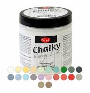 Viva Decor Chalky Kreidefarbe  250 ml Möbel Bilder streichen witterungsbeständig