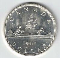 CANADA 1961 VOYAGEUR SILVER DOLLAR QUEEN ELIZABETH II .800 CANADIAN SILVER COIN