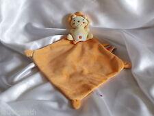 Doudou lion orange, étiquettes, Nicotoy, Blankie/Lovey/Newborn toy
