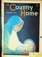 Country Home Magazine December 1932 Christmas Cover Jon Brubaker