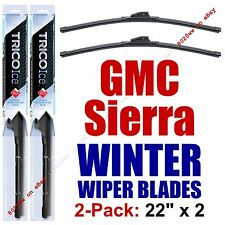 WINTER Wiper Blades 2pk Super-Premium Beam - fit 1999-2016 GMC Sierra - 35220x2