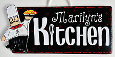 Personalize FAT CHEF KITCHEN SIGN Name Wall Plaque Cucina Bistro Italian Decor