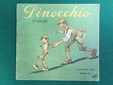 Collodi PINOCCHIO , Ed.Gino Conte ROSA D'ORO (SD Anni '50) Libro ill. Orsi