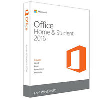 NEW! Microsoft Office Home and Student 2016 Medialess (PC)